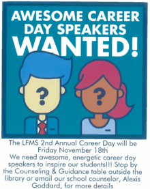 Career Day Speakers Wanted